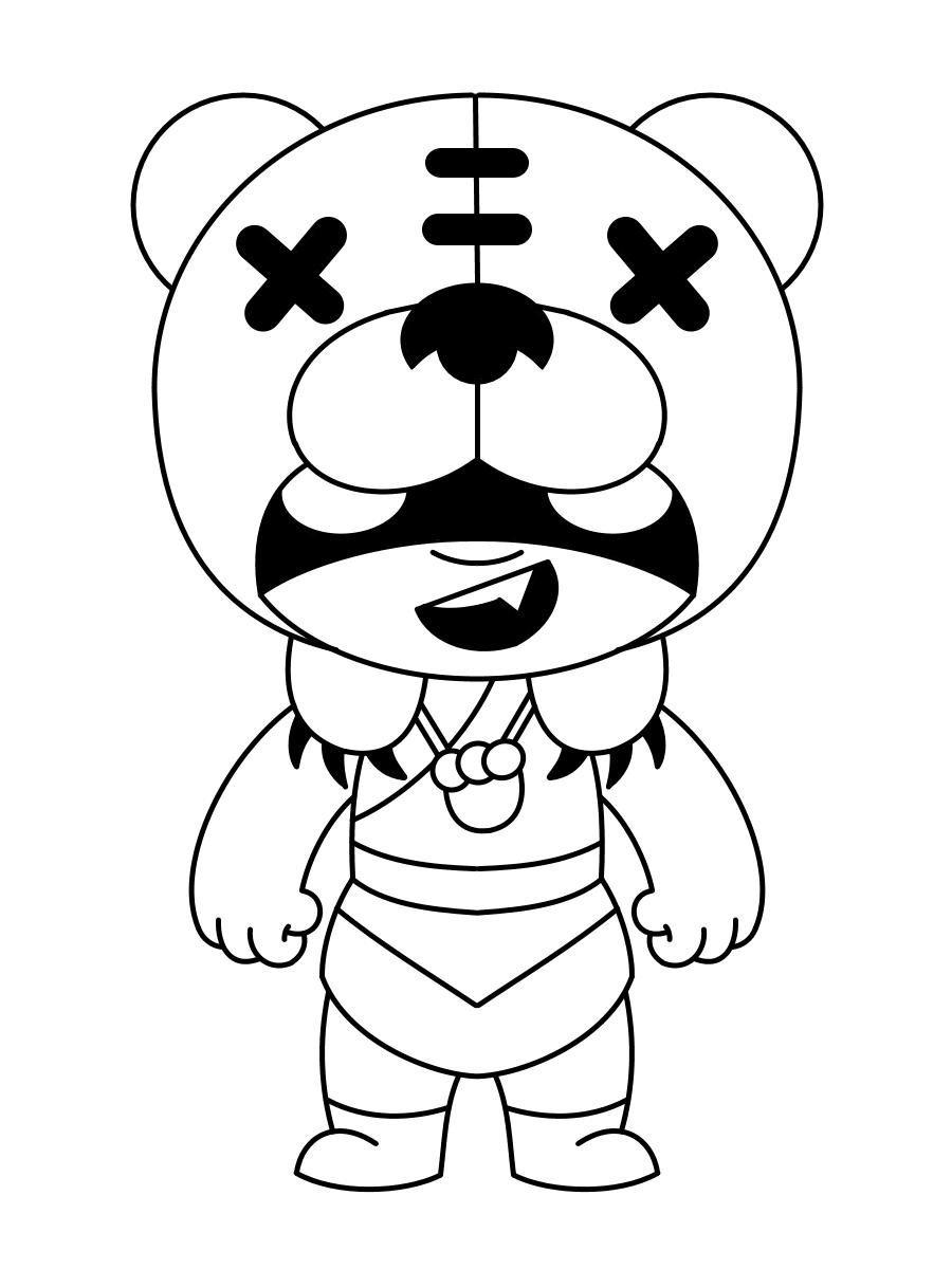 nita malvorlagen mit einem bären von brawl stars kostenlos