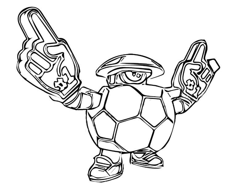 daryl from brawl stars coloring pages print for free