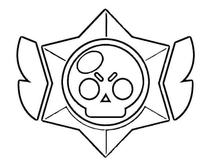 Раскраски Бравл Старс значки и логотипы распечатать бесплатно