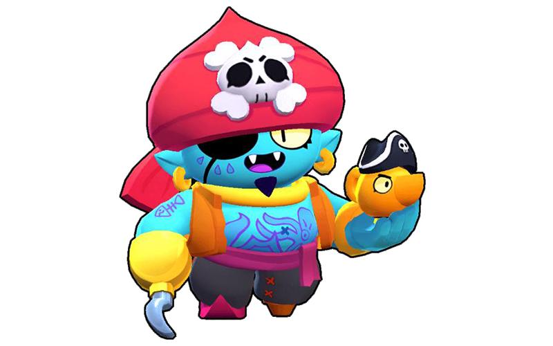 Джин пират из Бравл Старс раскраски распечатать бесплатно