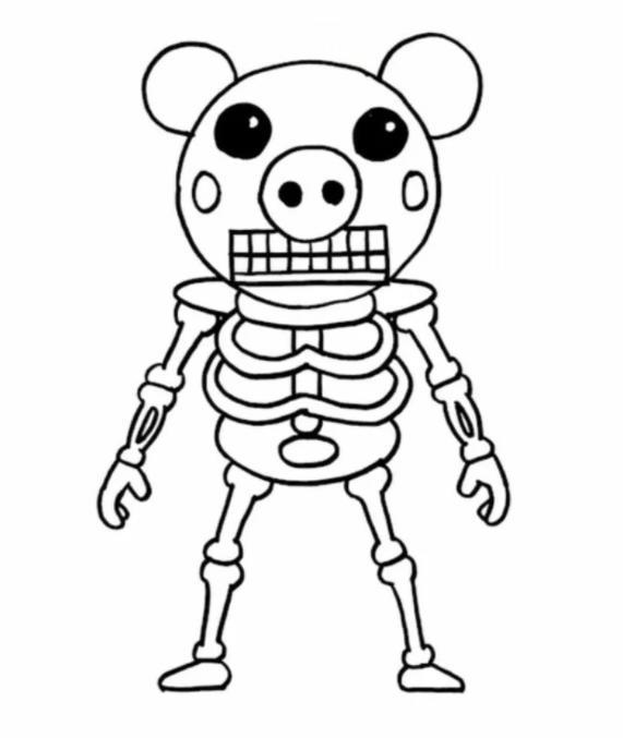 roblox malvorlagen piggy print kostenlos