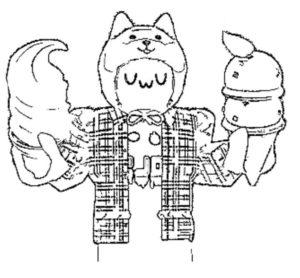 Роблокс раскраска Йоши